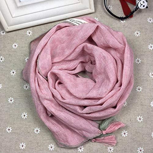 WZHZJ Otoño Invierno niños niñas niños algodón Lino Todo-fósforo Lindo Bufanda bebé con Volantes Suave Transpirable decoración Cosida Babero (Color : H)