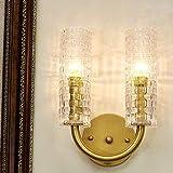 SVHK Aplique de pared interior, lámpara de pared de vidrio con estampado de...