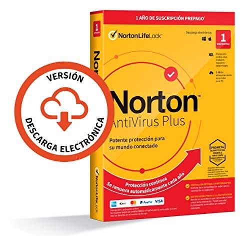 Norton Antivirus Plus 2021 - Antivirus software para 1 Dispositivo y 1 año de suscripción con renovación automática, para...