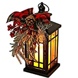 Christmas Candle Lantern, Halloween Garden Flashing Candle Light, Decorative Hanging Lantern for Indoor Home Tables and Fireplaces Outdoor Patios, with Holiday Retro Decorative Ornaments