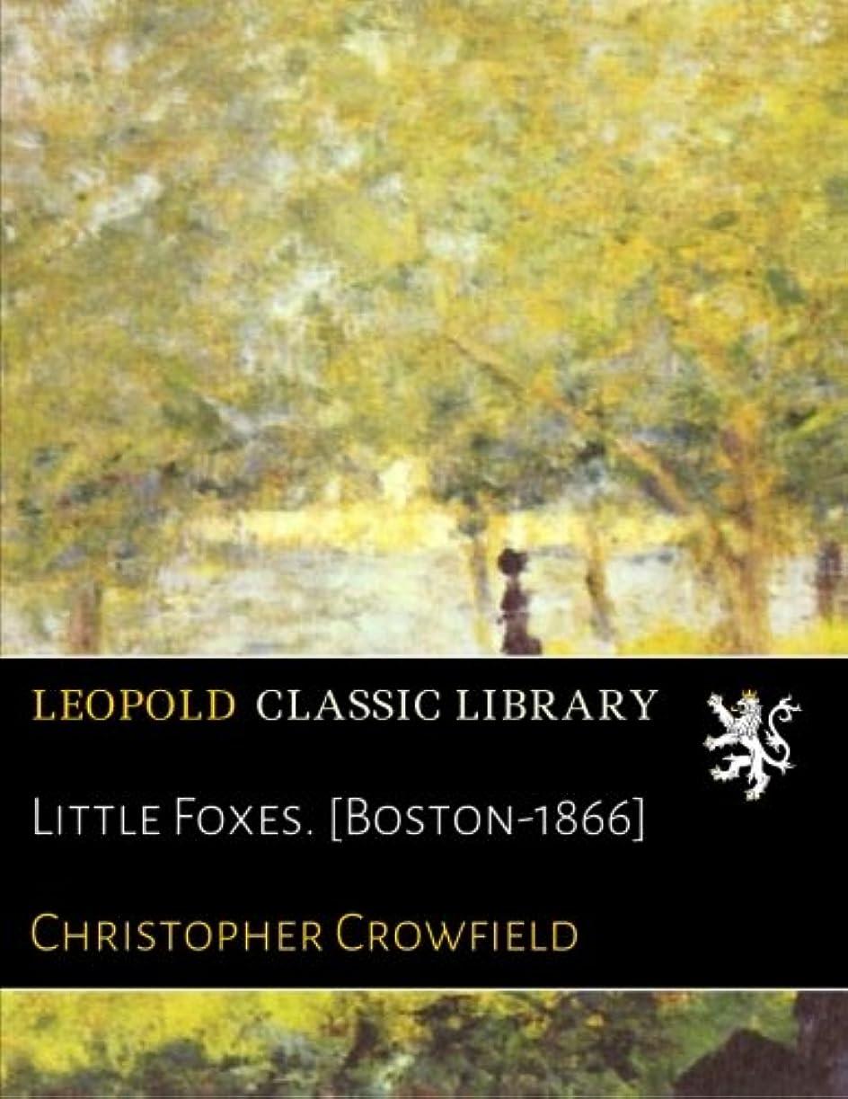 前奏曲堤防ビーチLittle Foxes. [Boston-1866]