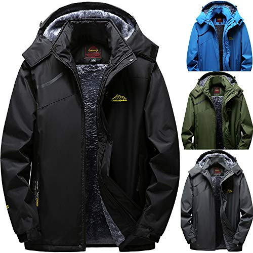 Great Price! Men's Waterproof Jackets with Hood, Outdoor Raincoat, Windproof Softshell Jacket for Hi...