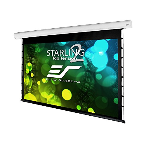 """Elite Screens Starling Tab-Tension 2, 135"""" 16:9, 6"""" Drop, Tensioned Electric Motorized Projector Screen, STT135XWH2-E6"""