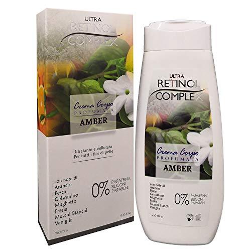Cremas Corporales Altamente Perfumadas Acción Hidratante Y Nutritiva 250ml 6 Fragancias Disponibles (Ámbar)