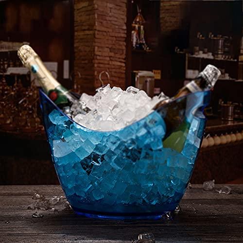Secchiello per Il Ghiaccio, Refrigeratore per Vino E Vasca per Bevande per Feste Portaghiaccio in Acrilico Trasparente per Alimenti, Portaghiaccio da 8 Litri, per Champagne per Bevande