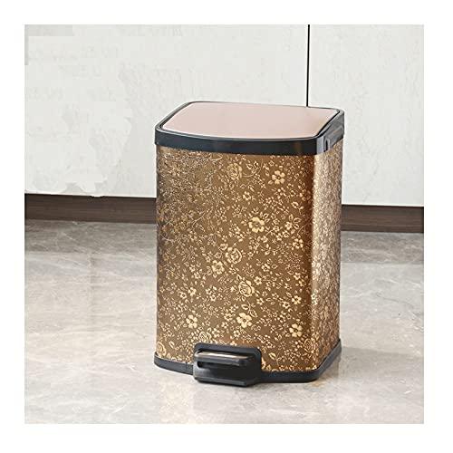 YIFEI2013-SHOP papeleras Basura escalonada de Acero Inoxidable con Tapa silenciosa y Suave, Papel de Basura de 12 litros, Adecuado para Cocina, hogar, Oficina Bote de Basura (Color : C)
