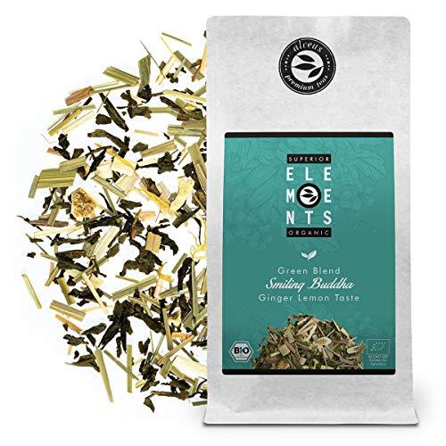 """""""Smiling Buddha"""" Grüner Tee Lose Ingwer Zitrone Bio, Aromatisierter Tee mit Zitronengras, (ca. 40 Tassen) 100 Gramm von alveus"""