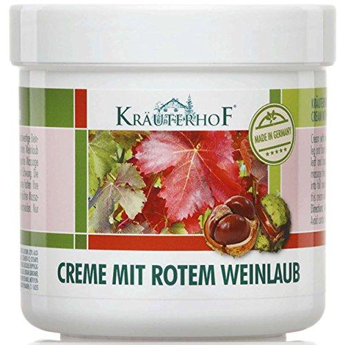 Kräuterhof 5er Vorteilspack Creme mit Rotem Weinlaub, 5 Dosen a 250ml