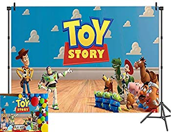 Cartoon Boy Toy Story Photography Backdrops It s A Boy Story Theme Wooden Floor Wallpaper Photo Background Birthday Party Decoration Baby Shower Banner Studio Props Vinyl 5x3ft