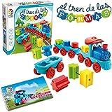 El Tren de Las Formas - Smart Games, Juego Educativo para Niños, Juegos De Madera para Preescolar, Juguetes Niños , Puzzles Infantiles, Regalo Niños, Puzzle Coches