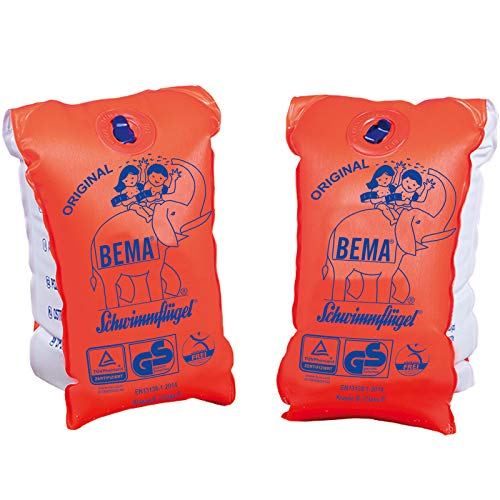Aufblasbare Schwimmflügel Größe 0 bis 11 Kg bis 1 Jahr Baby Kinder Schwimmhilfe Orange Weiß Schwimmen Baden Schutz Sicherheit Badespass Schwimmbedarf Kinderschutz Kindersicherheit Wasser Schwimmbad