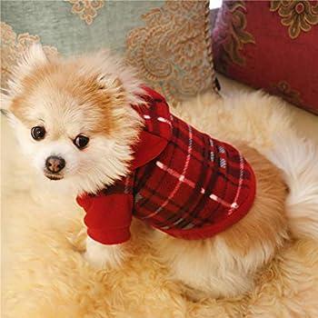Sweat à capuche pour chien Vêtements d'hiver pour animaux de compagnie Sweat-shirt pour Tenue de chat petit chien -xs: Tour de poitrine 22 cm