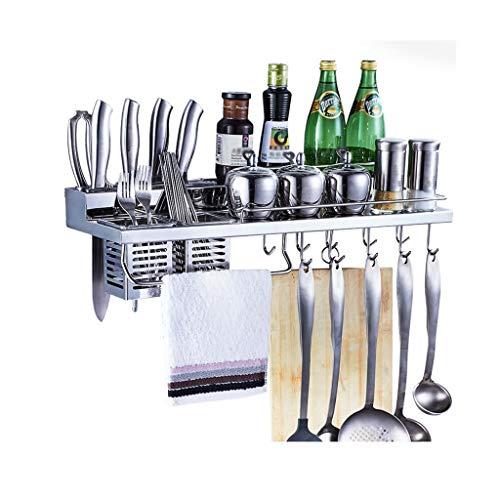 Soportes y organizadores para utensilios Estante de cocina de acero inoxidable montado...