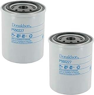 P550227 Donaldson Lube Filter Spin-On (Pack of 2), Replaces Baldwin B113, Nissan 15208H8911, Kubota HHK70-14070