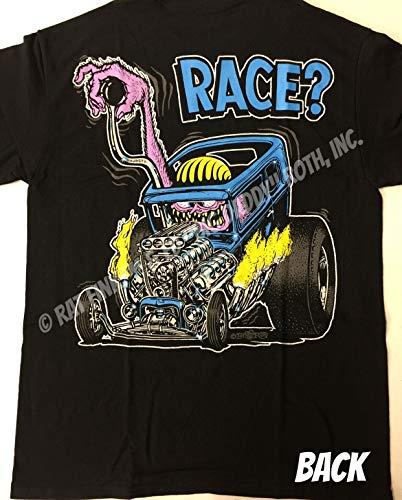 Rat Fink Official Race? T-Shirt Ed Big Daddy Roth Men's Shirt Sizes S-5XL (White, XL)