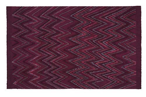 Lorena Canals Tapis Lavable Earth Savannah Red 100% Coton -Bordeaux- 170x240 cm