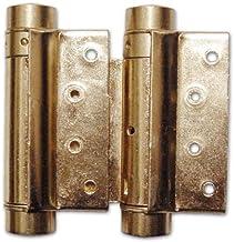 """Deurscharnier """"Boimmer"""" met veer, 2 stuks (grootte 75 mm, bronzerd)"""