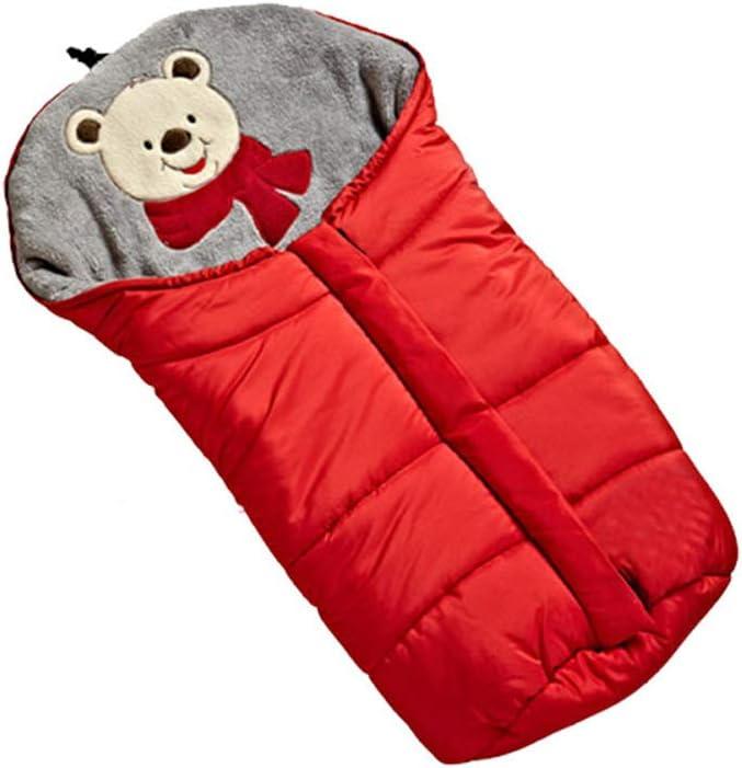 Sac De Couchage Pour Bébé Avec Sac De Couchage Pour Poussette Multifonctions (rouge) bleu