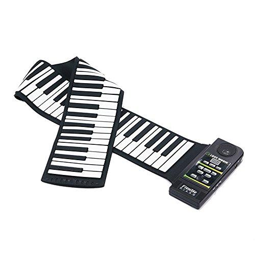iBalody Tragbare 88-Key-Anfänger Batterie unterstützt mit Lauter Lautsprecher Flexible gummierte Roll up Klaviertastatur für Kinder und Kinder Geburtstag Urlaub Geschenk