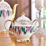 Laytte Conjunto de té Adulto Conjunto de té de Porcelana Taza de té y platillo Regalo Set British Royal Bone China Cup Regalo de Boda 15 Piezas