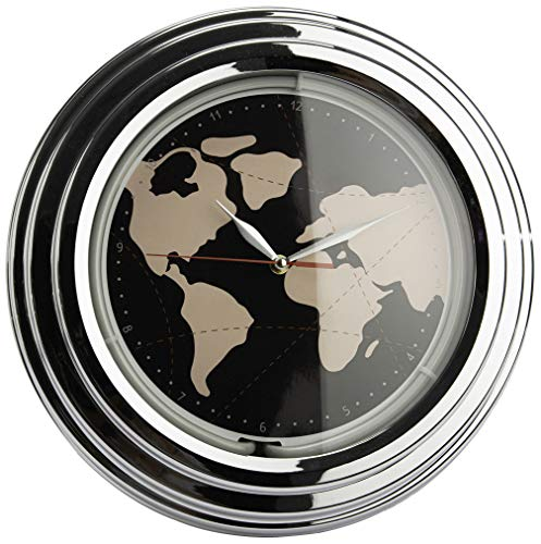 Amadeus Horloge néon Mappemonde 30 cm