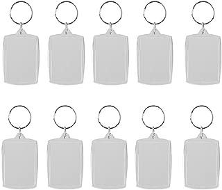 OULII Blank Photo Keychain Keyring Rectangle 4x5.6cm 10pcs