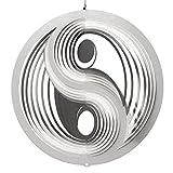 CIM Edelstahl Windspiel - Yin Yang 250 - inkl. Kugellagerwirbel, Haken und Nylonschnur - attraktive Edelstahl-Dekoration zum Aufhängen - Winter