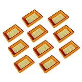 10 Piezas de Filtros de Aire para stihl FS120, FS200, FS250, FS300, FS350, FS400, FS450, Cortabordes/Desbrozadoras