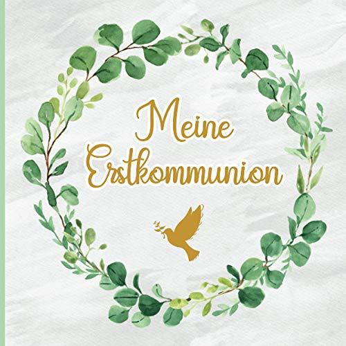 Erinnerungsbuch Kommunion: Gästebuch Kommunion zum Eintragen für Mädchen und Jungen |...