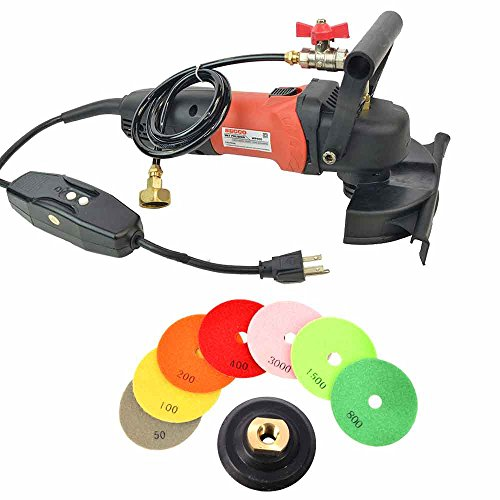 Hardin WVPOLSET 4 Inch Var Speed Polisher and 8 pc 4 Inch Diamond Polishing Pad Set