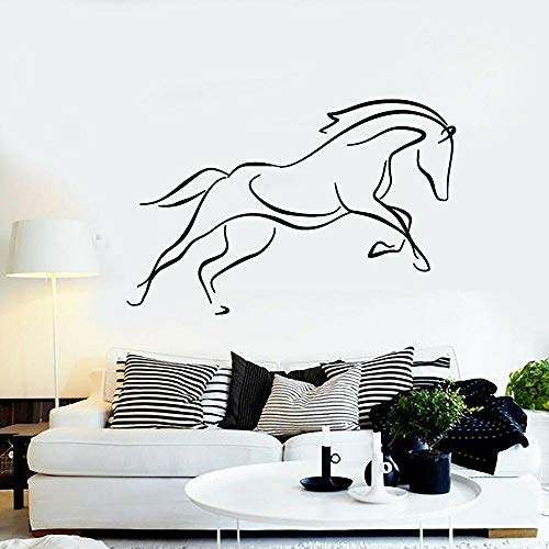 Sanzangtang Paard woonkamersticker abstract dier galopant silhouet muur vinyl sticker huis binnen slaapkamer