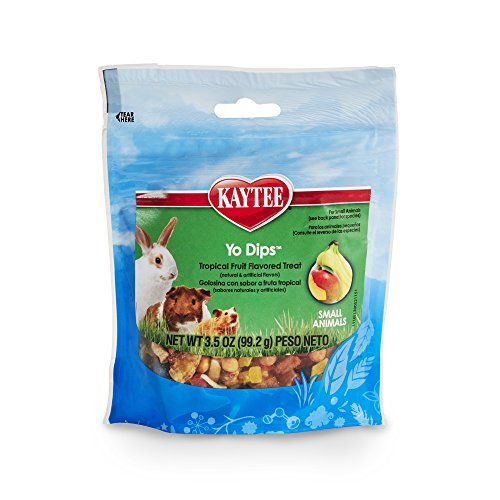 Kaytee Fiesta Yogurt Dipped Treats Tropical Fruit And Yogurt Mix For Small Animals, 3.5-Oz Bag