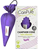 MANGALAM CamPure Camphor Cone, 45 Days Scent for Cars, Room Freshener with Mosquito Repellent Properties (Lavender) -2 Pack