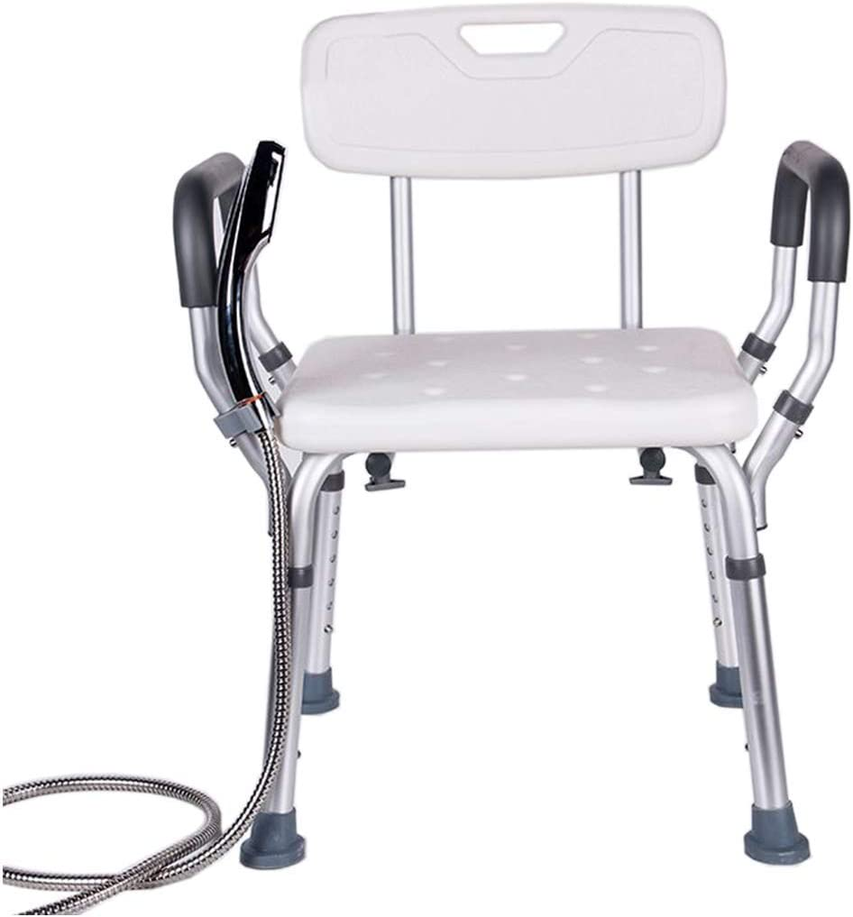 Cash special price FXLYMR Max 65% OFF Shower Seat Bath Stools White Chair Arm Lift Bathtub with