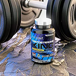 Testosterone King - Full 1 Month Course - D-Aspartic Acid and Zinc which contributes to Normal Testosterone Levels - Testosterone Boosters for Men - 120 Capsules