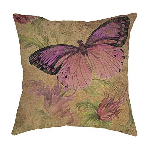 serliy Schöner Schmetterling Dekorative Brief kissenbezüge kissenhüllen Spannbettlaken Hause sofakissenbezug günstige schöne Plüsch Hohe Qualität Großzügig Polsterung Baumwolle bettwäsche