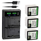 Kastar 3-Pack Battery + LTD2 USB Charger Compatible with Arlo A-1, A-1B, A-1C, P/N: 308-10029-01 Battery, Arlo Pro, VMC4030, Arlo Pro2, Pro 2, Arlo Security Light VMA4400 Netgear, Arlo VMS4230-100PAS