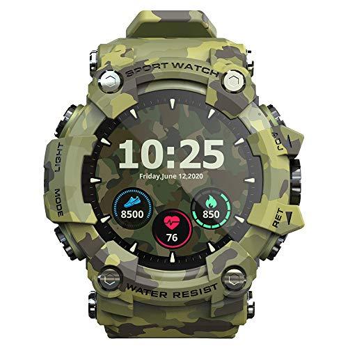 KOPOU Reloj inteligente 2021, monitor de presión arterial de frecuencia cardíaca, pantalla táctil, reloj inteligente IP68, pulsera inteligente podómetro