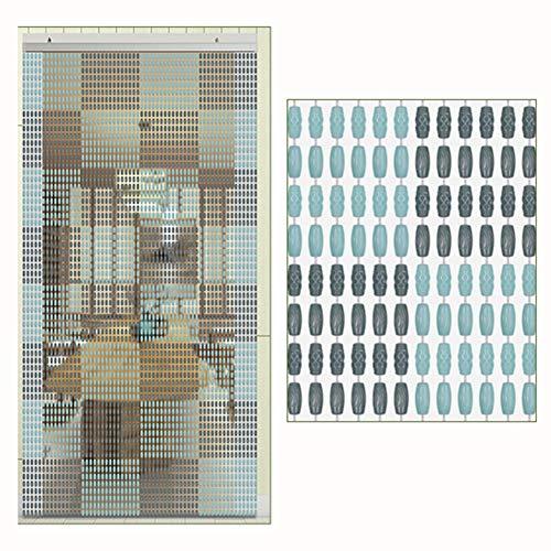 SSRS Cortinas moldeadas de cortina cristalina del grano decoración del hogar de cortina que cuelga, Salón Dormitorio Puerta cortina de partición fácil instalación, tamaños 2 colores múltiples Superfic