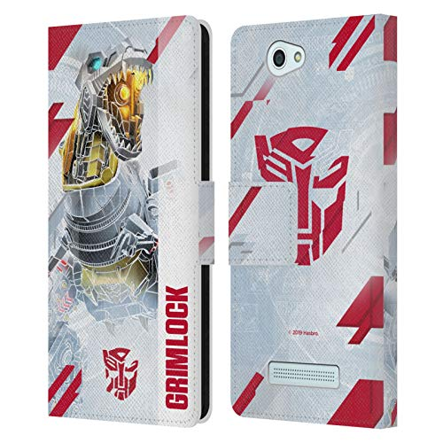 Head Case Designs Offizielle Transformers Grimlock Autobots Schlussel Kunst Leder Brieftaschen Huelle kompatibel mit Wileyfox Spark/Plus
