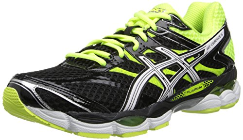 ASICS Men's Gel-Cumulus 16 Running Shoe,Black/White/Flash Yellow,14 M US