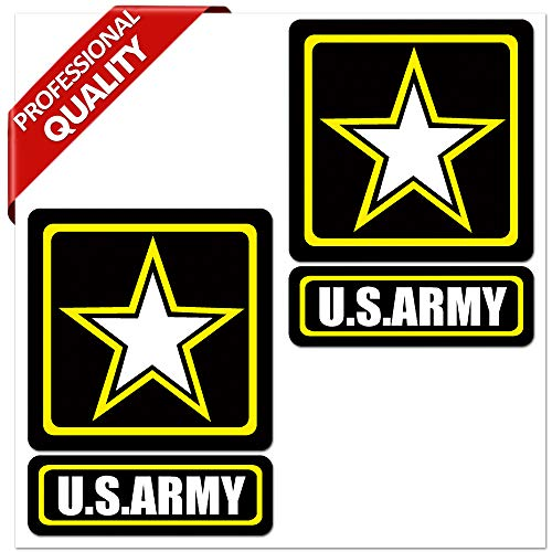 Biomar Labs® 2 x vinyl sticker USA Army Star leger van de Verenigde Staten militaire ster Amerika Car Jeep Window Stickers raam autosticker auto motorfiets helm tuning B 254