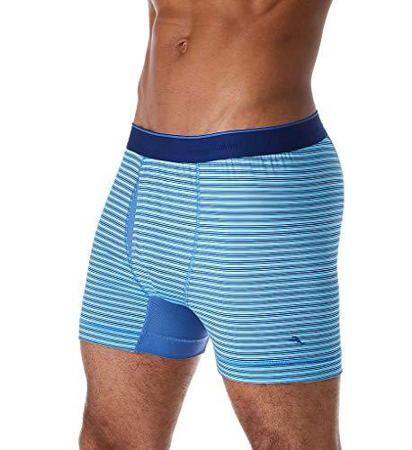 Tommy Bahama Mesh Tech Boxer Briefs Blue Stripe XL (38-41' Waist)
