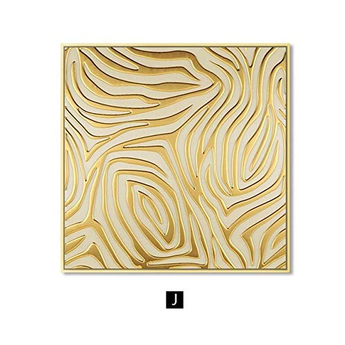 BGFDV Fondo decoración de la Pared Oro Brillante decoración nórdica Imagen Arte de la Pared Lienzo Pintura Abstracta Moderna decoración del hogar Cartel impresión Pared Imagen Sala de Estar