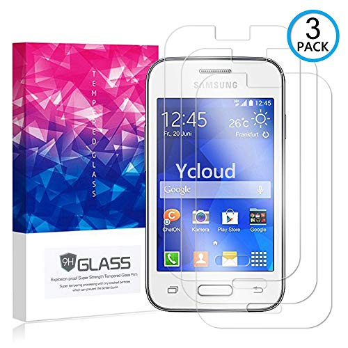 Ycloud [3 Pack] Protector de Pantalla para Samsung Galaxy Young 2 (G130H, 3.5 Pulgada),[9H Dureza/0.3mm],[Alta Definicion] Cristal Vidrio Templado Protector para Samsung Galaxy Young 2 (G130H)