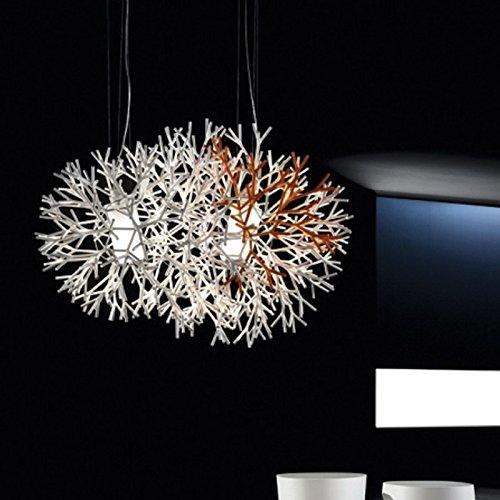 Pallucco Coral Sospensione 120 Bianco-Arancio Fluo, lampada a sospensione L. 120cm