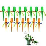 Regar Plantas Vacaciones de 15 Piezas, Rociador, Presión de Agua Estable con Interruptor de Válvula de Control para Plantas de Interior al Aire Libre (Naranja verde)