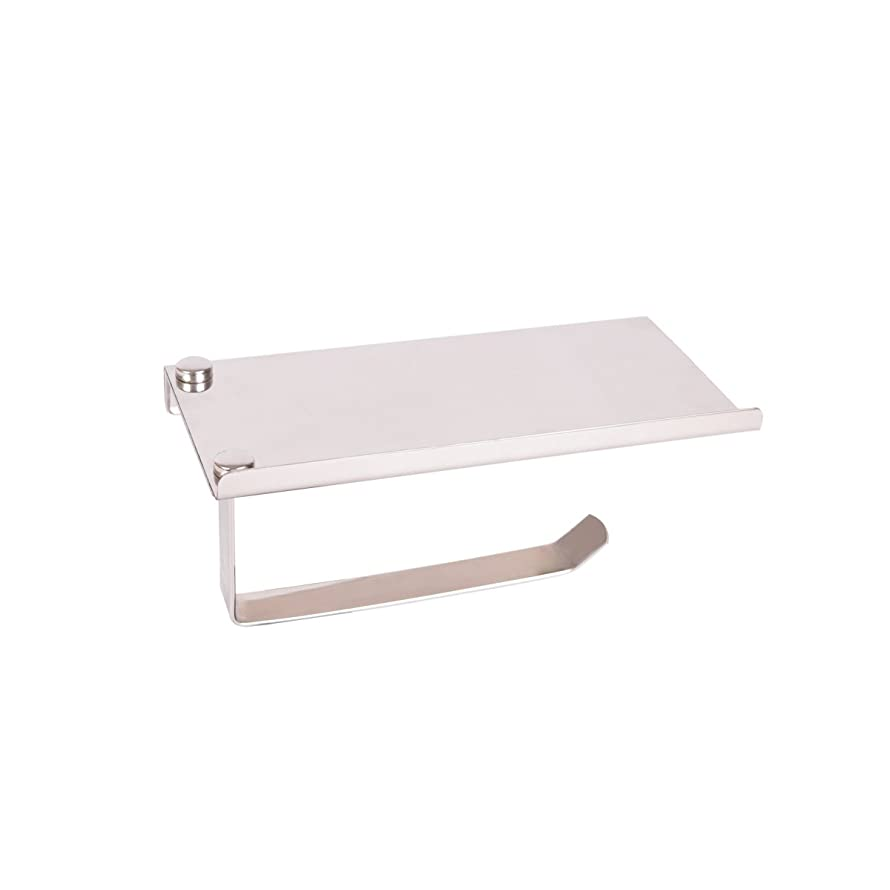 Baitaihem Toilet Paper Holder SUS304 Stainless Steel Wall Mount Bathroom Paper Shelf for Mobile Phone Rack Wall Mount Tissue Holder
