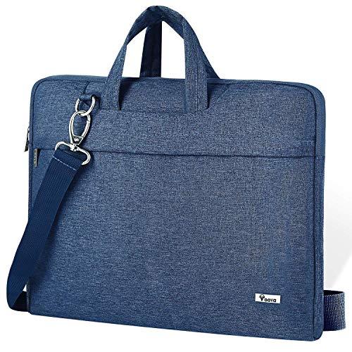 Voova 17 17.3 Zoll Laptoptasche Laptop Hülle Notebook Tasche mit Schulterriemen, Wasserdicht Notebooktasche für MacBook Pro 17, HP Pavilion 17, 18 Zoll Laptophülle Laptop Bag für Damen Herren-Blau