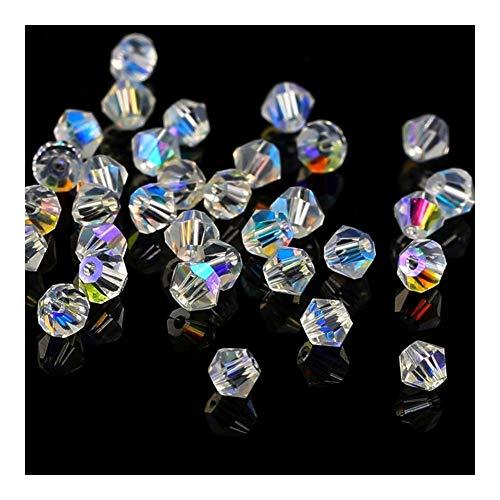 JIANDONG Cristal Calidad 720pcs Granos Grandes Bolsa de Doble Cono 4mm Cristal...